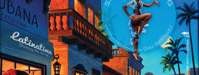 Affiche de la soirée La Habanera Vol. 6 avec Féthé, Brice Chan Chan et la troupe chorégraphique de Diaz Martinez