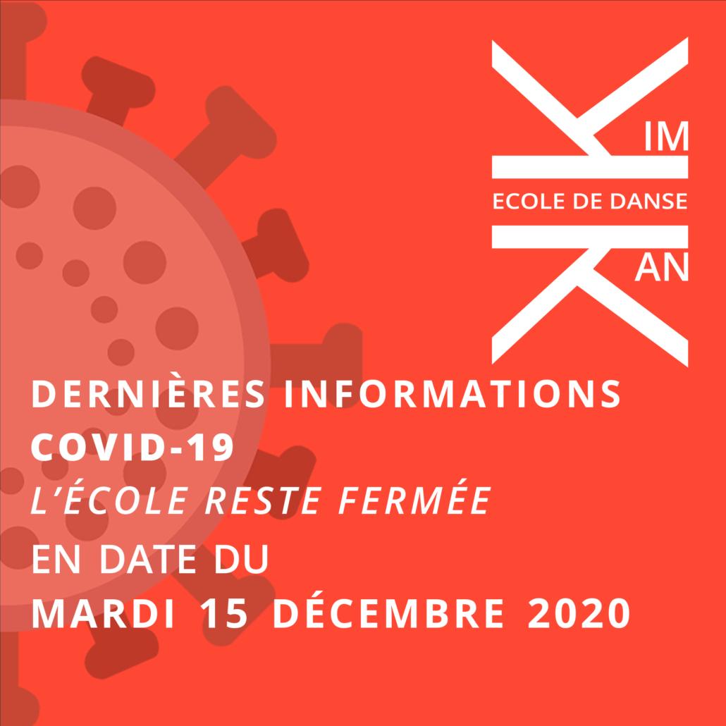 Dernières informations Covid-19 - 15 decembre 2020